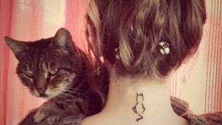 Cele mai COOL si la moda tatuaje cu PISICI - TOP 2014 - GALERIE FOTO